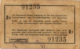 R.929t: Deutsch-Ostafrika 1 Rupie 1916 S3 SN:91235 (2)
