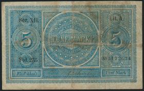 R.001: 5 Mark Reichskassenschein 1874 (4)