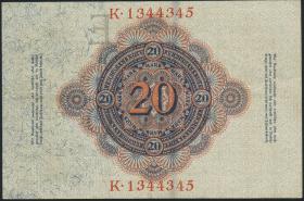 R.041: 20 Mark 1910 mit Wasserzeichen (2)
