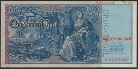 R.043P1/2: 100 Mark 1910 (1) Druckprobe