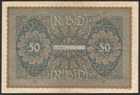 R.062b: 50 Mark 1919 Reihe 2 (3) Wiener Note