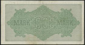 R.075h: 1000 Mark 1922 HH 5-stellig (3+)