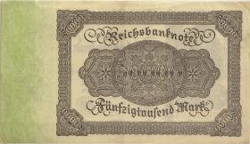 R.079b: 50000 Mark 1922 Reichsdruck KN rot (2)