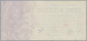 R.126 Druckprobe: 1 Billion Mark 1923 MUSTER (1-)