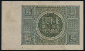 R.138: 5 Billionen Mark 1924 (3+)
