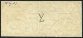 R.143c: 1,05 Mark Gold = 1/4 Dollar 1923 (3+)