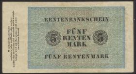 R.156a 5 Rentenmark 1923 (3+)