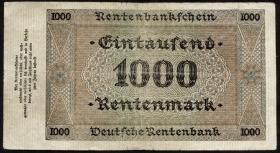 R.161 1000 Rentenmark 1923 (3/3-)