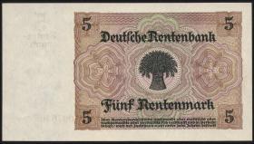 R.164a: 5 Rentenmark 1926 7-stellig (2+)
