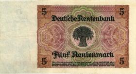 R.164a: 5 Rentenmark 1926 7-stellig (2)