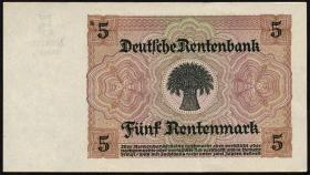 R.164b: 5 Rentenmark 1926 8-stellig (1/1-)