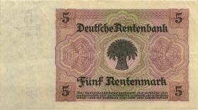 R.164F: 5 Rentenmark 1926 braune KN (3+)