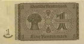 R.166e: 1 Rentenmark 1937 mit belgischem Lagerstempel (2)