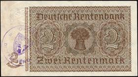 R.167fF: 2 Rentenmark 1937 Prägesiegel Luxemburg (2+)