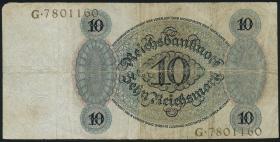 R.168a: 10 Reichsmark 1924 P/G (3)