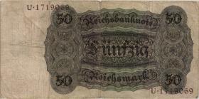 R.170a: 50 Reichsmark 1924 N/U (3)