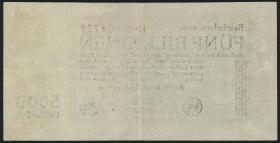 R.127a 5 Billionen Mark 1923 Reichsdruck (3+)