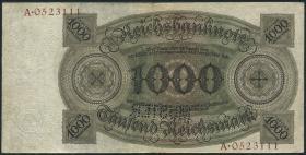 R.172M: 1000 Reichsmark 1924 Q/A MUSTER (3)