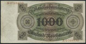 R.172M: 1000 Reichsmark 1924 R/A MUSTER (3)
