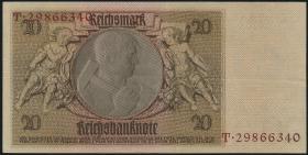 R.174f: 20 Reichsmark 1929 mit belgischem Lagerstempel (2)