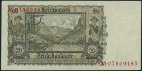 """R.178a: 20 Reichsmark 1939 """"Österreicherin"""" (2)"""