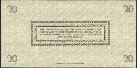R.184a: 20 Reichsmark 1945 Sachsen (1) Knr. Rosette