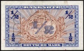 R.231c 1/2 DM 1948 B Perforation + Stempel (2)