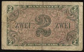R.234b: 2 DM 1948 G Ersatznote (4)