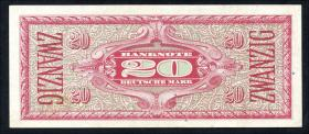 R.246a 20 DM (1948) Liberty (2+)