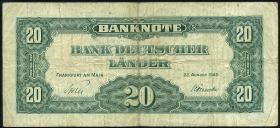 R.261 20 DM 1949 BDL B-Stempel (3-)
