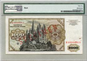 R.268M 1000 DM 1960 MUSTER / SPECIMEN (1-)