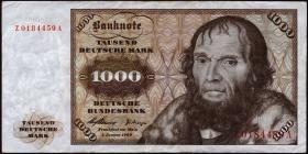 R.268b 1000 DM 1960 Z Ersatznote (3)