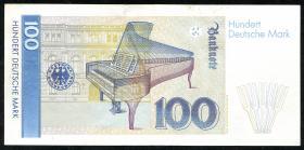 R.294F 100 DM 1989 kopfstehends Wasserzeichen (3+)