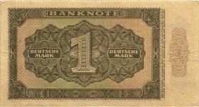 R.340c 1 DM 1948 XG 6-stellig Ersatznote (3+)