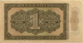 R.340c: 1 DM 1948 Mark 6-stellig Serie XS (3+)
