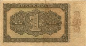 R.340c 1 DM 1948 XC 6-stellig Ersatznote (3+)