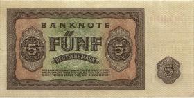 R.342c 5 DM 1948 XG Ersatznote (3+)