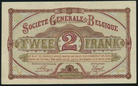 R.434: Besetzung Belgien 2 Francs 1916 (2+)