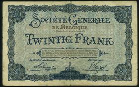 R.436: Besetzung Belgien 20 Francs 1915 (3)