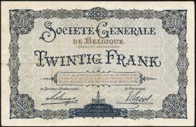 R.436: Besetzung Belgien 20 Francs 1915 (3+)