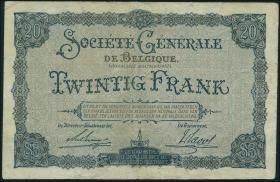 R.436: Besetzung Belgien 20 Francs 1915 (5)