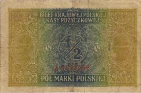 R.439a: Besetzung Polen 1/2 Marki  1917 (3)