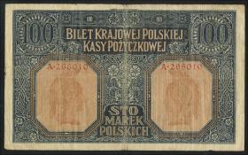 R.446a: Besetzung Polen 100 Marek 1917 (4)