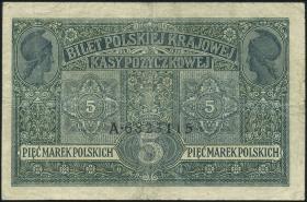 R.447: Besetzung Polen 5 Marek 1917 II.Ausgabe (3)