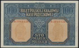 """R.455: Besetzung Polen 100 Marek 1917 """"General"""" (2+)"""