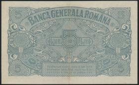 R.476b: Besetzung Rumänien 5 Lei 1918 (2)
