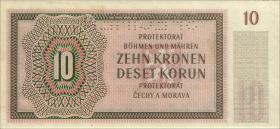 R.562b: Böhmen & Mähren 10 Kronen 1942 NB Specimen (1)