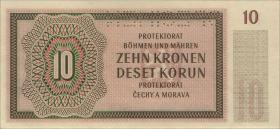 R.562b: Böhmen & Mähren 10 Kronen 1942 N Specimen (1)