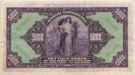 R.567d: Böhmen & Mähren 5000 Kronen 1943 Specimen (2)
