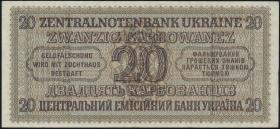 R.595a: Besetzung Ukraine 20 Karbowanez 1942 1-stellig (1/1-)